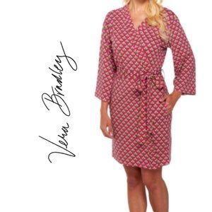 Vera Bradley Pink & Green Knit Robe